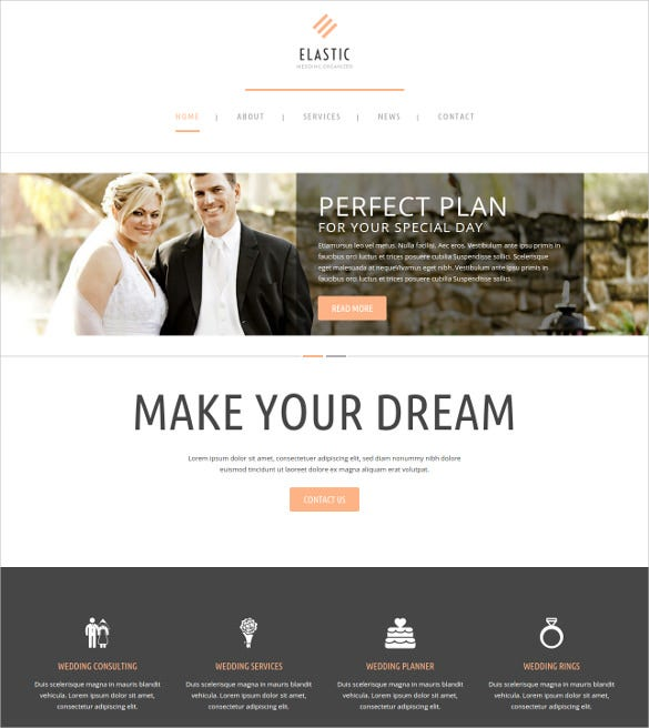 excellent wedding wordpress theme