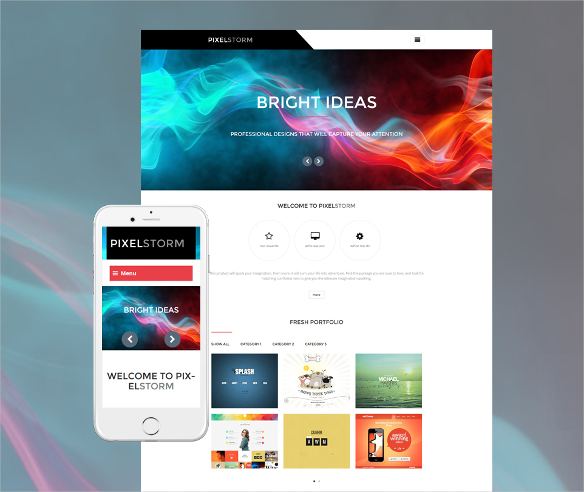 pixel storm portfolio wordpress blog theme