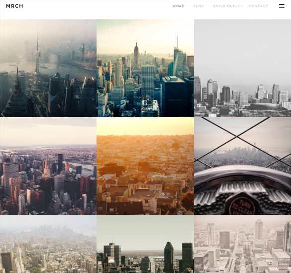 march minimal portfolio blog theme