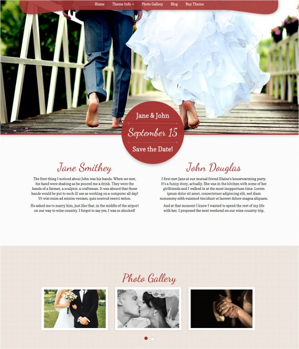my wedding wordpress template