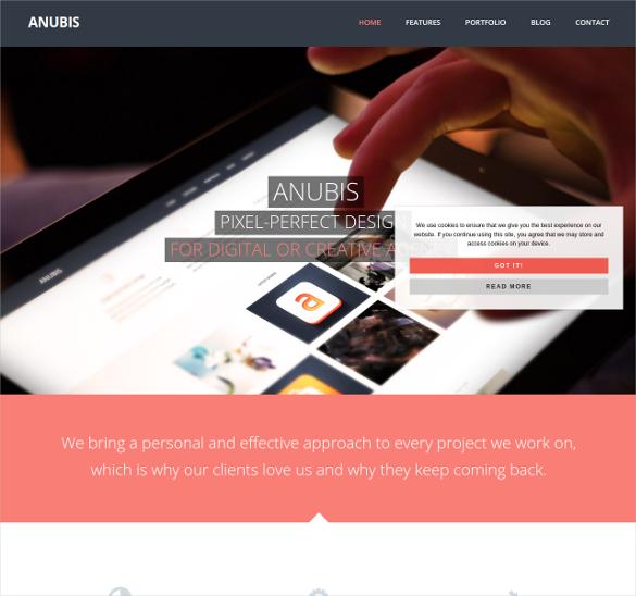 anubis responsive portfolio blog theme