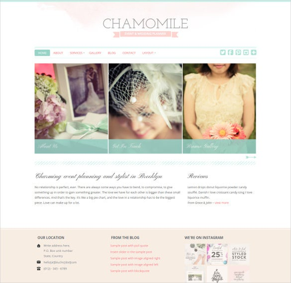 attractive wedding wordpress them