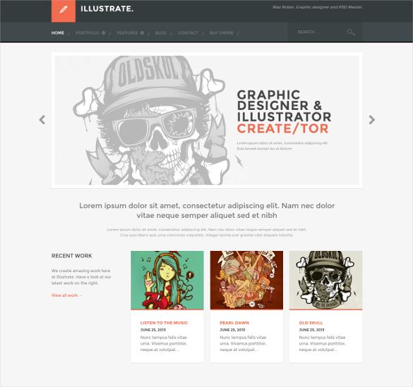 responsive portfolio blog theme