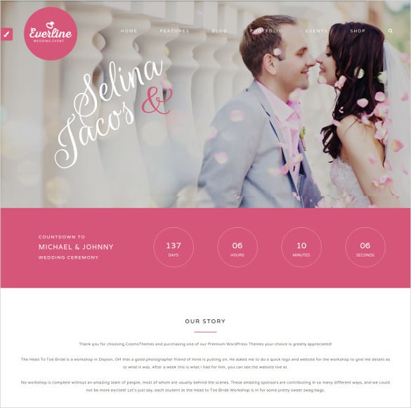 splendid wedding wordpress them