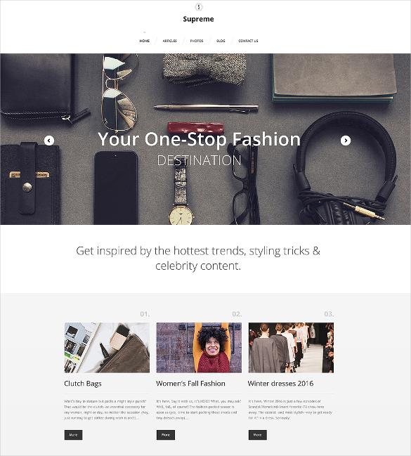 supreme portfolio wordpress html5 theme