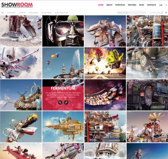 showroom portfolio responsive html5 theme