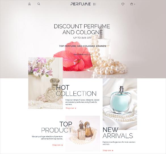 perfume shop woocommerce portfolio html5 theme