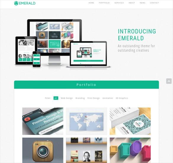 single page html5 css3 portfolio theme