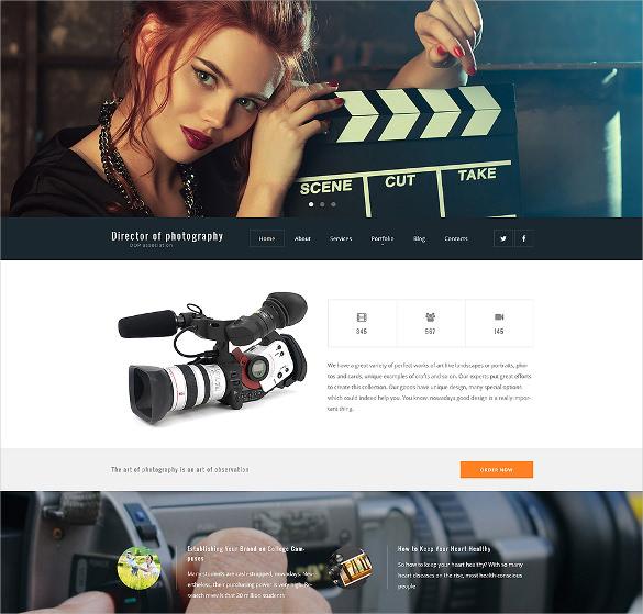 director of photography portfolio wordpress html5 theme