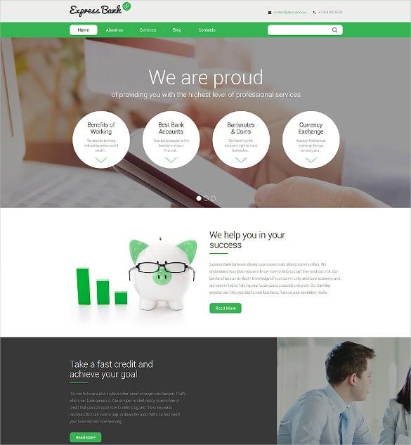 express bank portfolio drupal html5 template