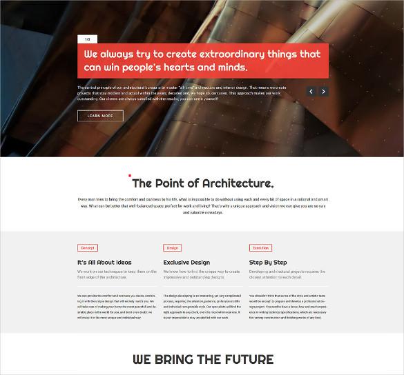 architecture responsive wordpress portfolio html5 theme