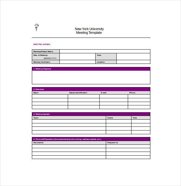 Meeting Notes Template 28 Free Word PDF Documents Download – Meeting Templates Word