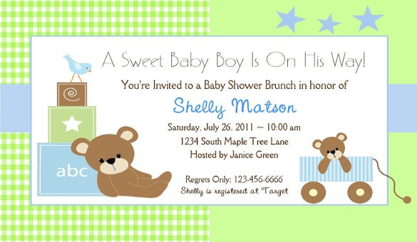 39 Baby Shower Invitation Templates Psd Vector Eps Ai Word