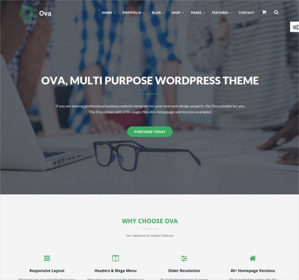 multi purpose wordpress portfolio bootstrap theme