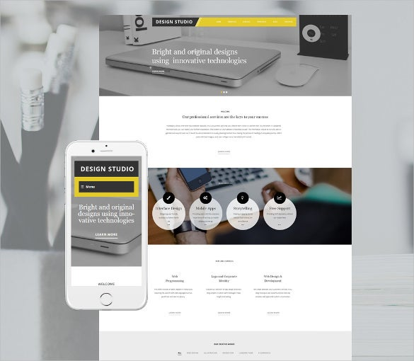 design studio wordpress portfolio bootstrap theme