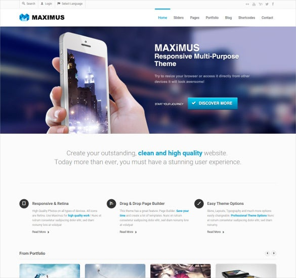 multipurpose business portfolio bootstrap template