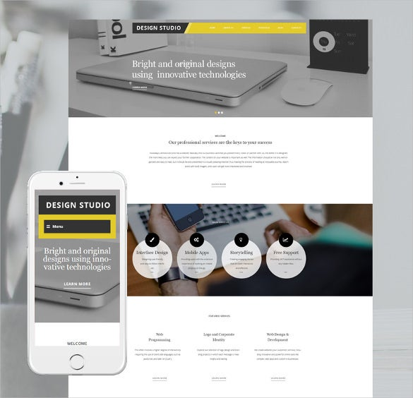 design studio wordpress portfolio php theme