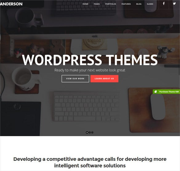 multi purpose wordpress portfolio php theme