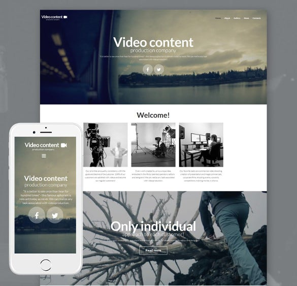 video lab moto cms 3 portfolio php template