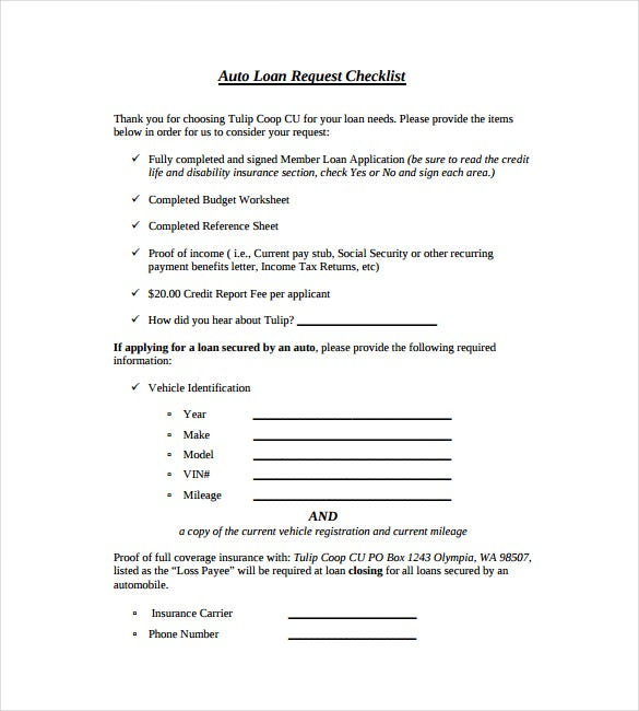 auto loan note pdf template free download
