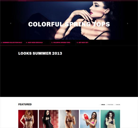 portfolio magento theme for lingerie store