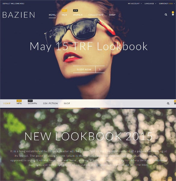 the bazien portfolio magento theme