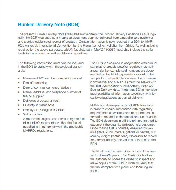 9+ Delivery Note Templates – Free Sample, Example, Format Download