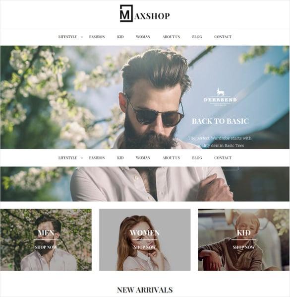 maxshop portfolio responsive magento theme