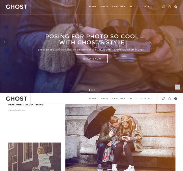 ghoster creative portfolio magento theme