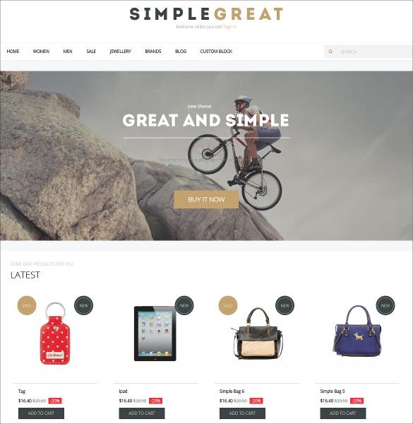 simple portfolio prestashop theme