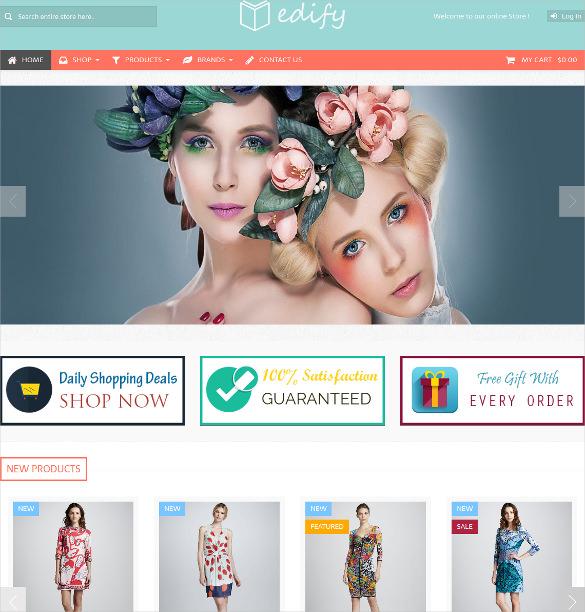 edify responsive portfolio zencart theme