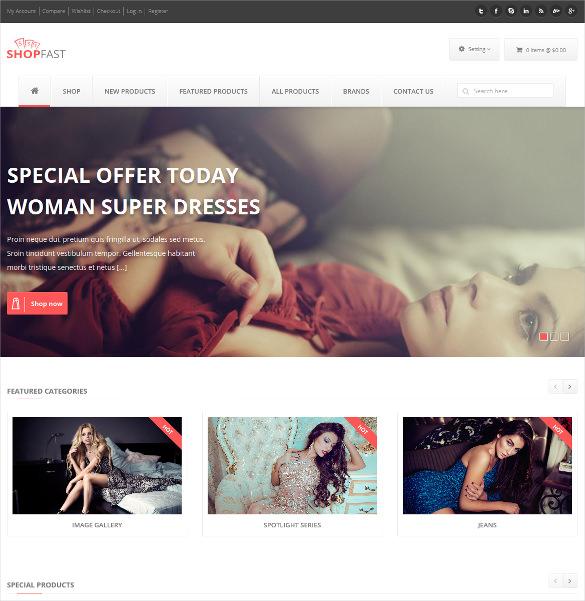 shopfast responsive portfolio zencart template