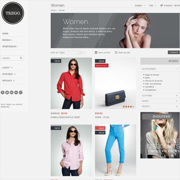 trego premium responsive portfolio zencart theme