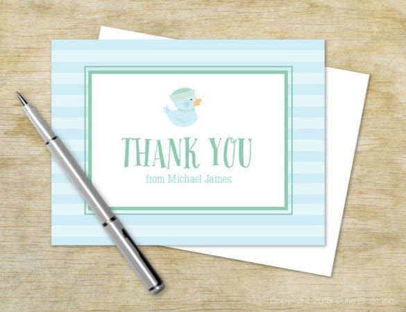kids birthday thank you note cards