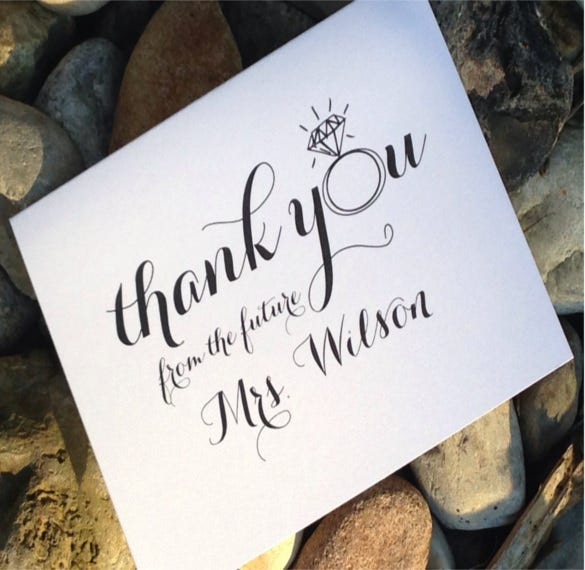 wedding bridal shower thank you notes1