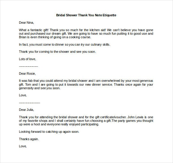 bridal shower thank you note etiquette1
