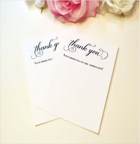 Business Thank You Notes Free Sample Example Format - Business thank you card template