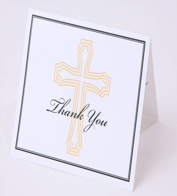 thank you note card baptism bereavement