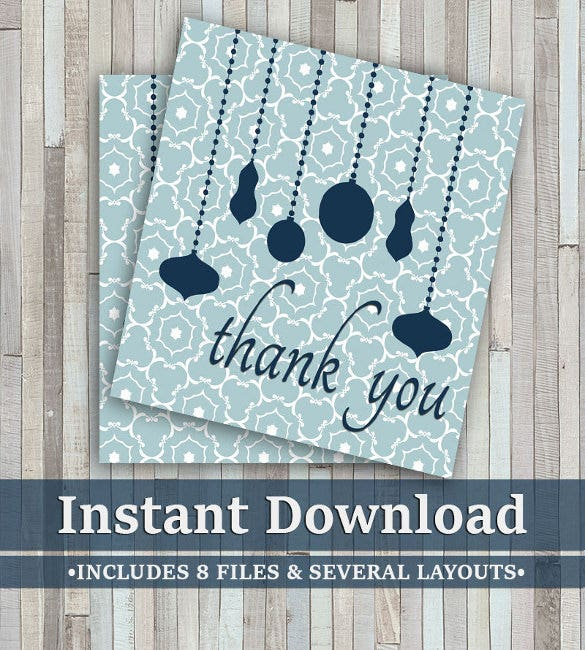 printable square christmas thank you notes