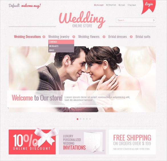 wedding online store magento theme
