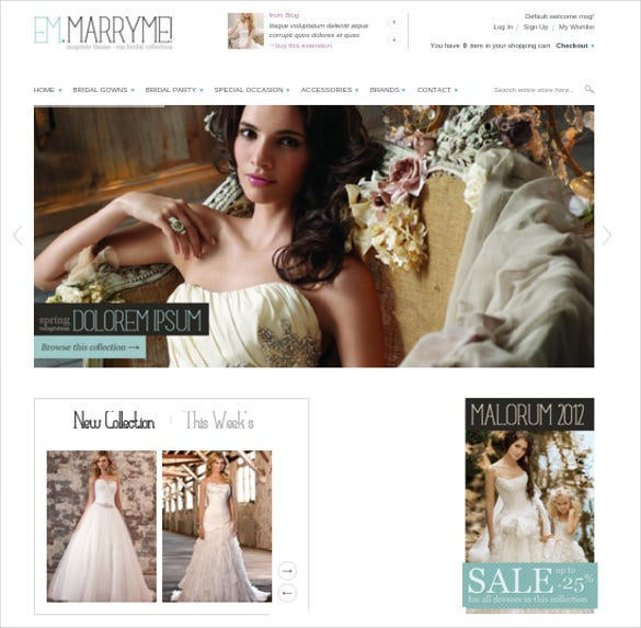 splendid wedding magento theme