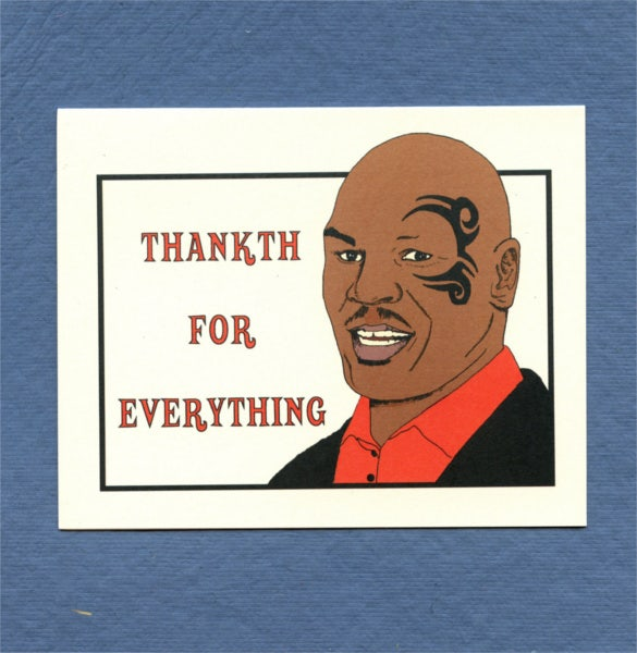 mike tyson card funny thank you note