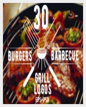 30 Burgers and Barbecue Logos Bundle