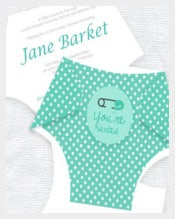 Ahoy Mate Whale Baby Shower Diaper Card Invitation