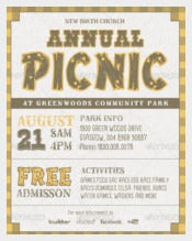 Annual Church Picnic Invite Card Template