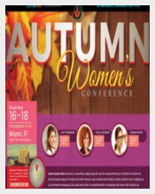 Autumn Women's Conference Flyer for funding