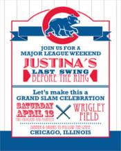 Baseball Bachelorette Party Digital Invitation