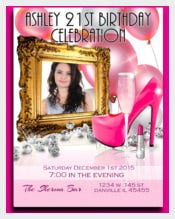 Birthday Birthday Party Invitation birthday invitation template, elegant