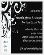 Black Swirl Corporate Party Invitation Card