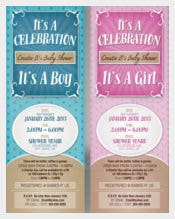Blue Baby Shower Invitation Templates